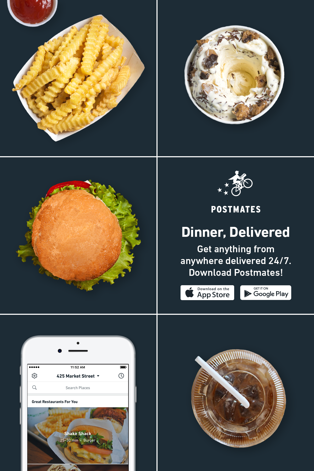 Pin by Postmates on Anything Delivered Shake shack