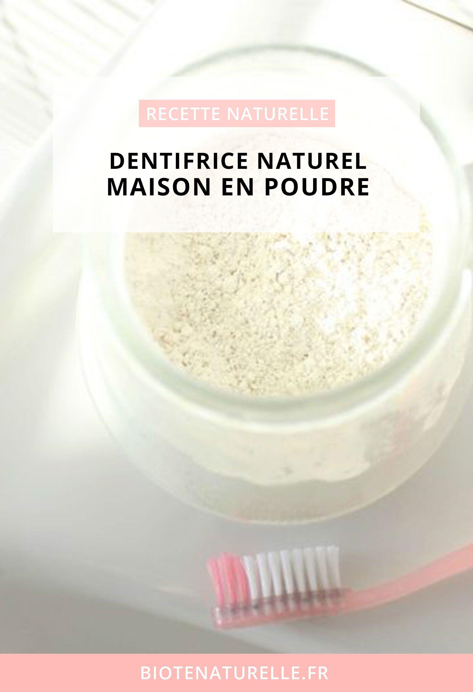 Dentifrice En Poudre Fait Maison Biote Naturelle Dentifrice Dentifrice Naturel La Beaute Naturelle