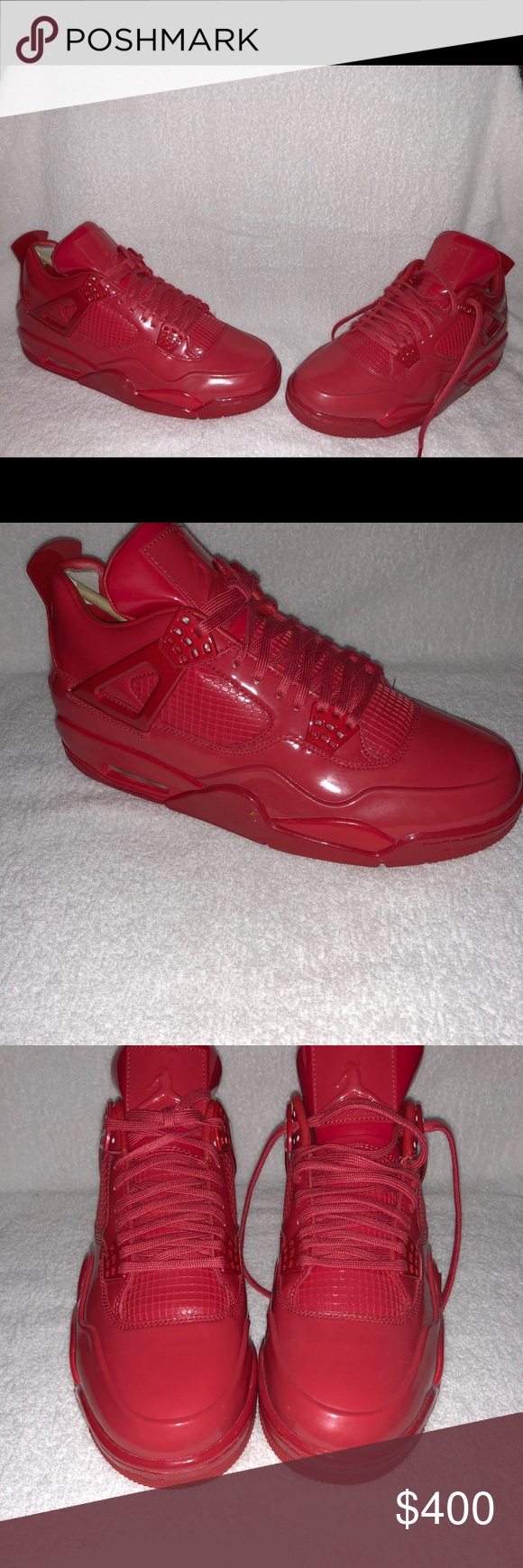 new products b495d 6f94a Jordan retro lab 4. Size 10 new in box Retro 4 Red leather ...
