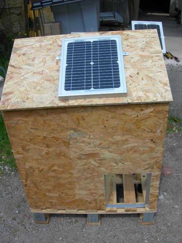 PORTE POULAILLER SOLAIRE Vente En Ligne Panneaux Solaires Vosges - Porte poulailler solaire