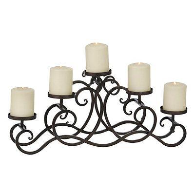 Terrific Gunmetal Pillar Candle Runner For The Home Candles Interior Design Ideas Gentotryabchikinfo