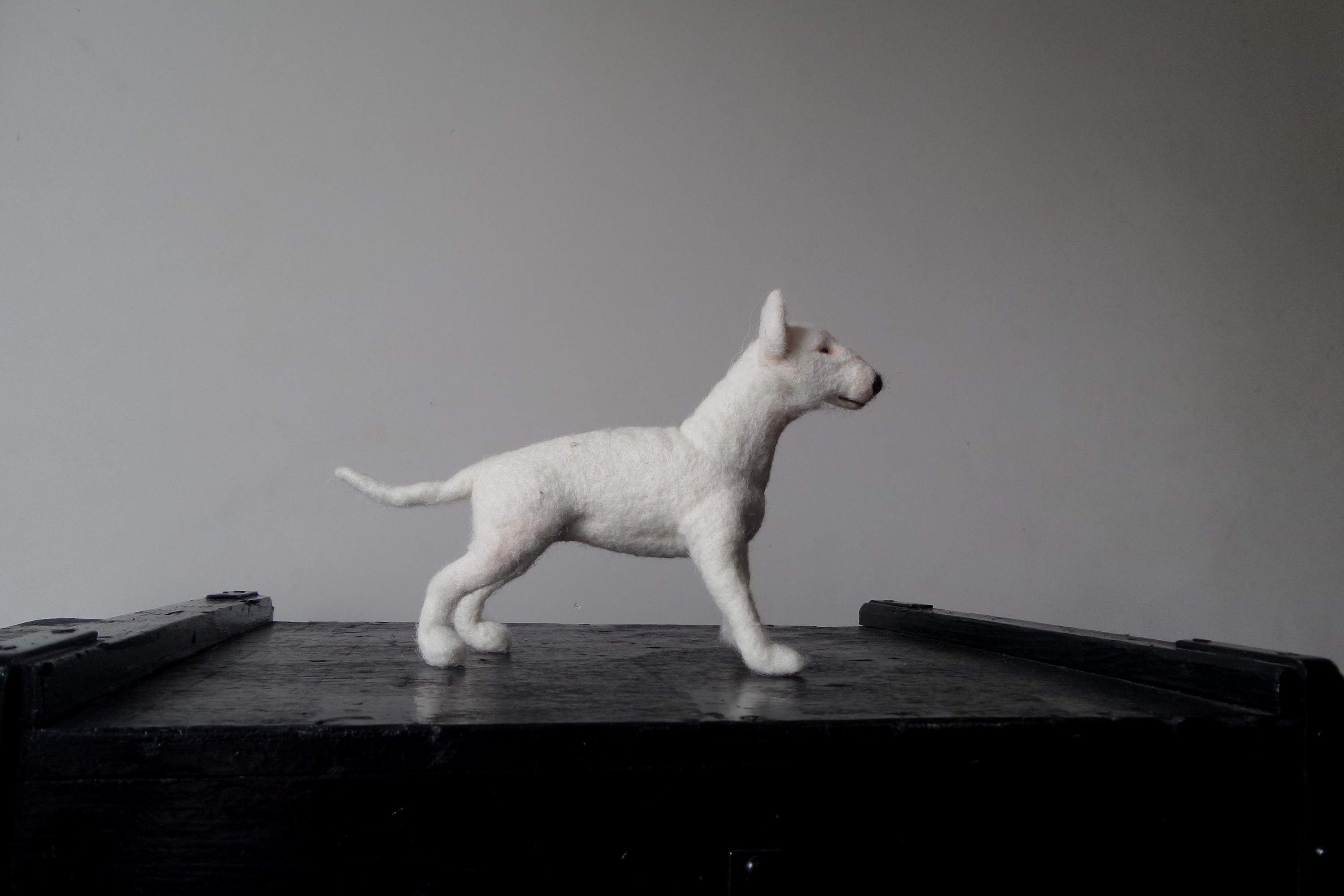 Pit Bull terrier Dog portrait Poseable miniature Needle felt animal Custom Made Dog Staffordshire Terrier or any other breed  Made to order by ShimaFiberArt on Etsy