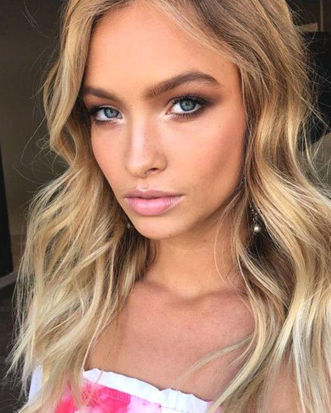 15 Smokey Eye Makeup For Blue Eyes And Blonde Hair Ideas Blonde