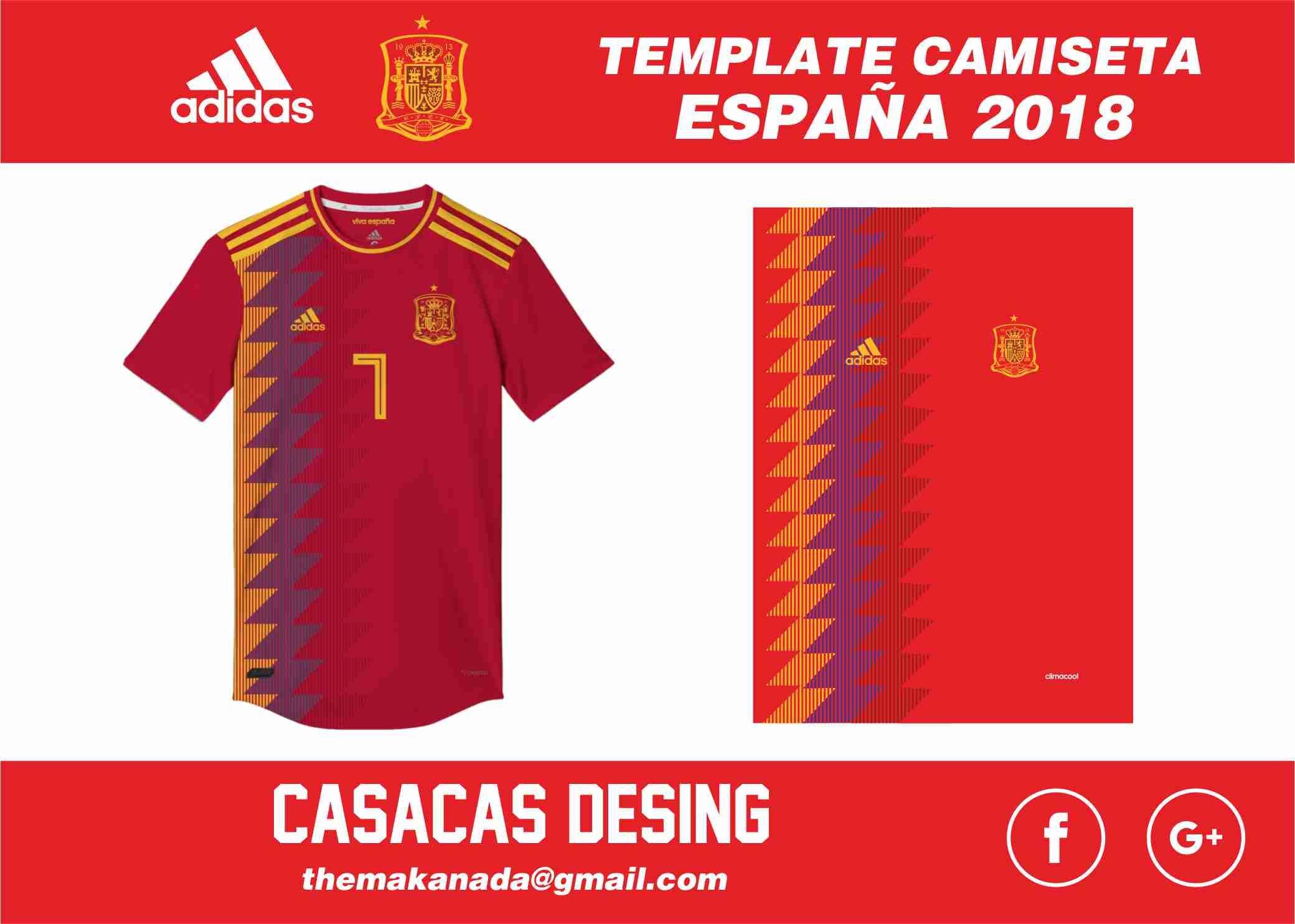 Nueva camiseta de la selección española 2018 - Vector ...