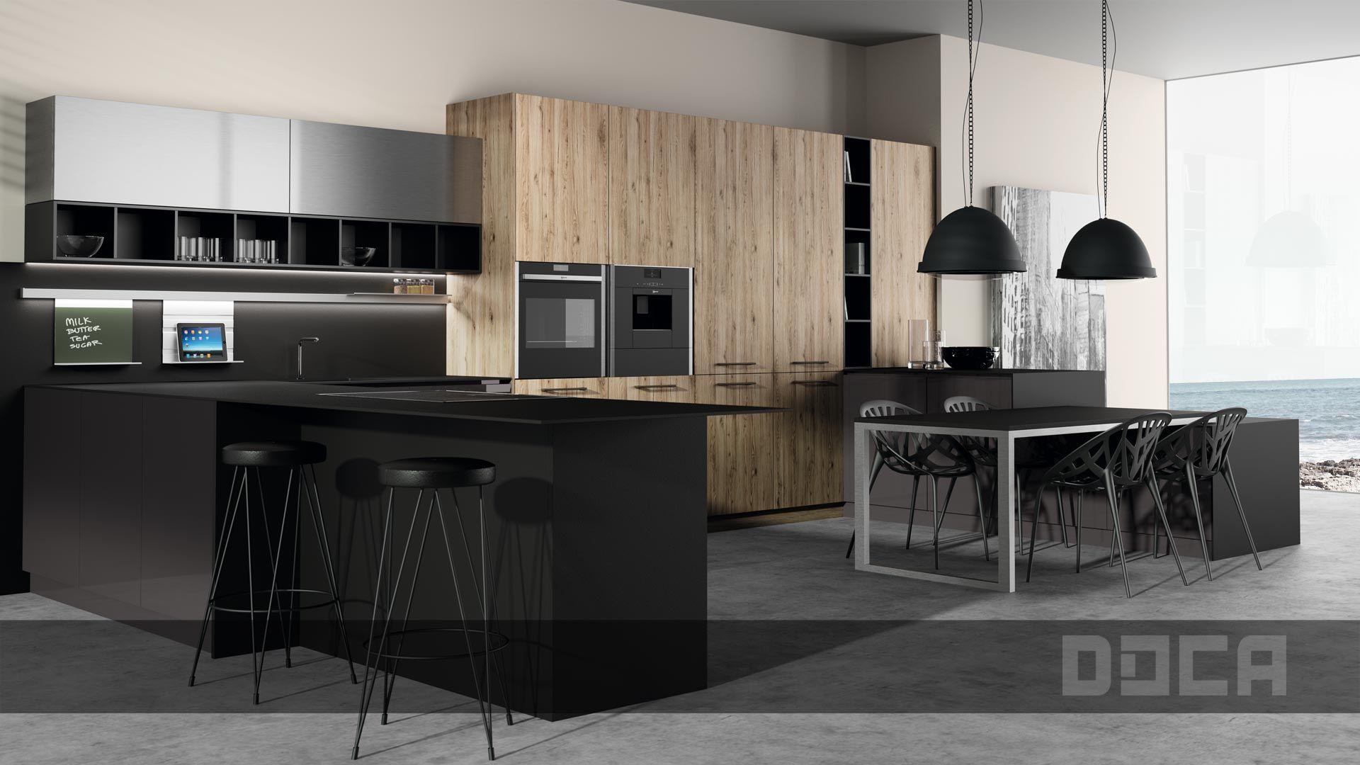 Descubre las increíbles #cocinas Line By DOCA, Muebles de ...