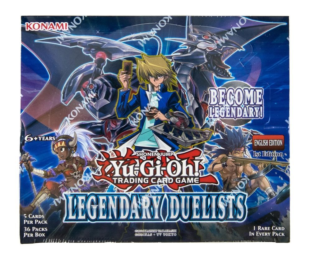 YU-GI-OH! LEGENDARY DUELISTS BOOSTER BOX-NEW SEALED