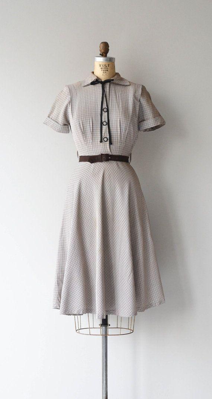 Five and Dime dress vintage 1950s dress plaid 50s by DearGolden