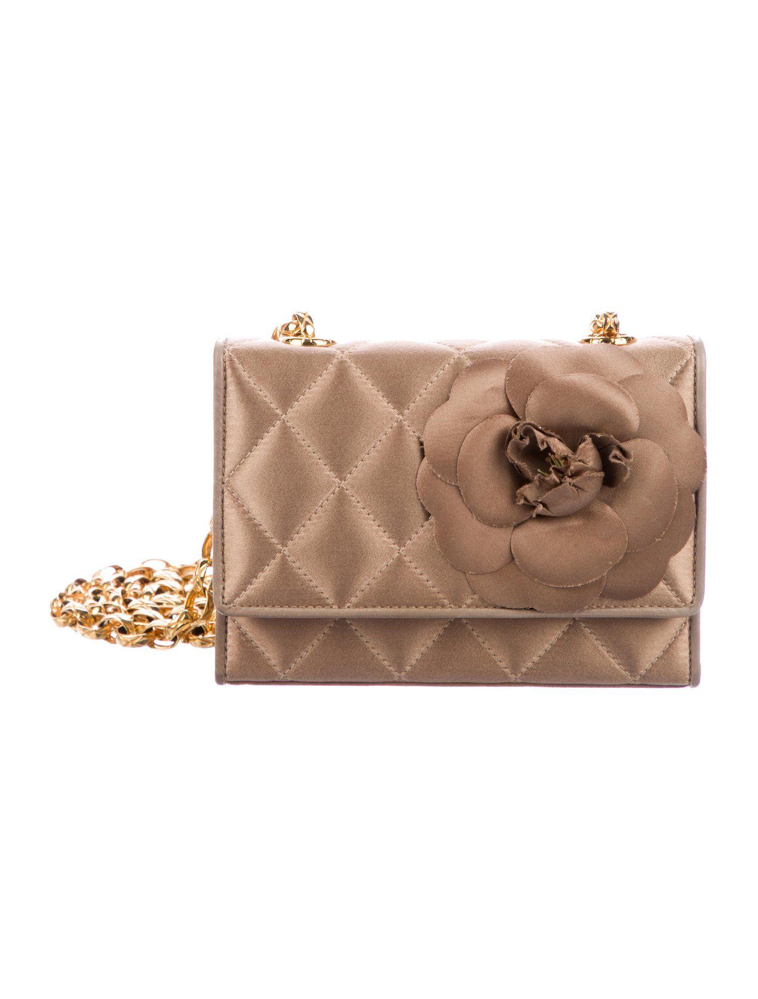 b3895b381b04 Chanel Satin Camellia Flap Bag - Handbags - CHA319698