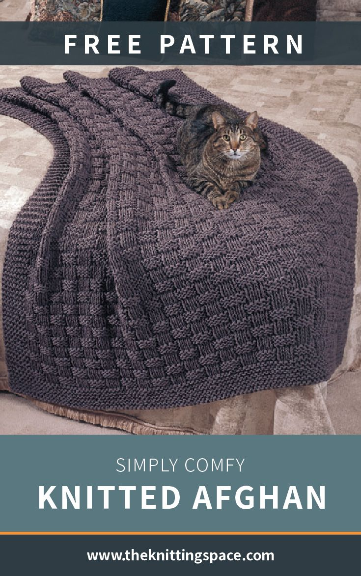 Photo of Simply Comfy Knitted Afghan [FREE Knitting Pattern]