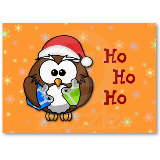 Are you looking for small Christmas/New Year cards? Santa owl and friends are waiting for you.