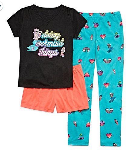 34225fa719f3 Mermaid doing my thing Total Girl 3-pc. Pajama Set Girls X-large (16)   TotalGirl  PajamaSet