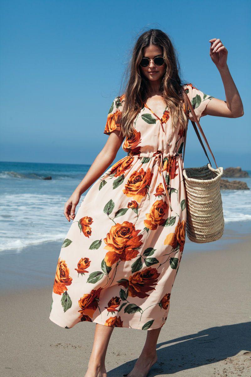 Christy Dawn || Dawn dress in peach floral | Kleider
