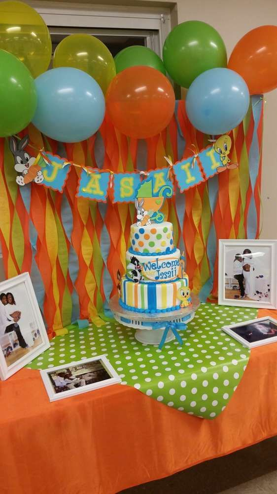 Baby Looney Toons Baby Shower Theme : looney, toons, shower, theme, Looney, Tunes, Shower, Party, Ideas, Photo, Party,, Tunes,, Decorations