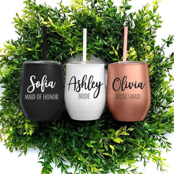 Wine tumbler custom wine glasses personalize wine glasses wine glass wine gift bridesmaid proposal bridesmaid gift set of 34567 Bachelorette
