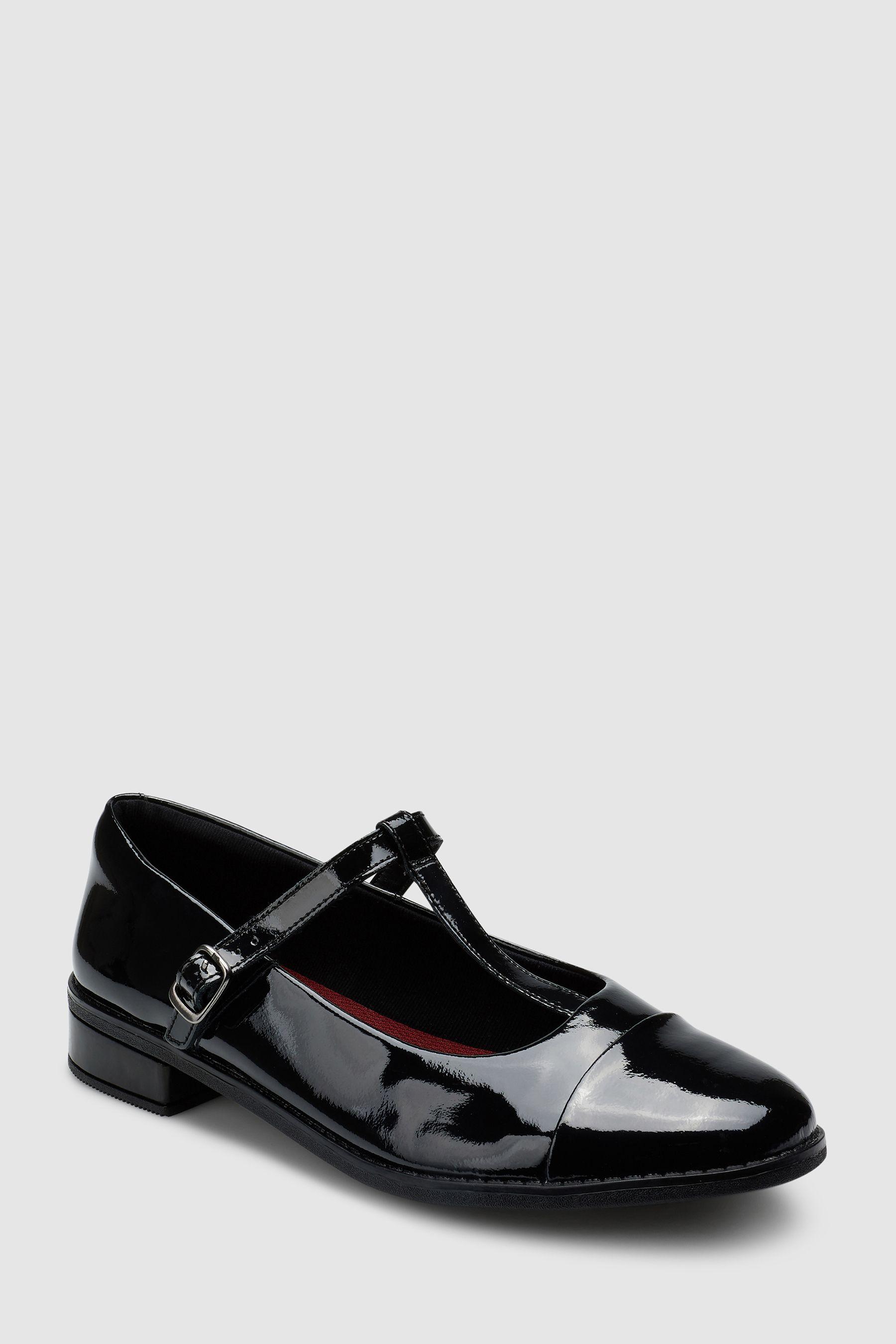 b0d8904d7f6 Girls Clarks Black Patent Drew Shine T-Bar Youth Shoe - Black ...