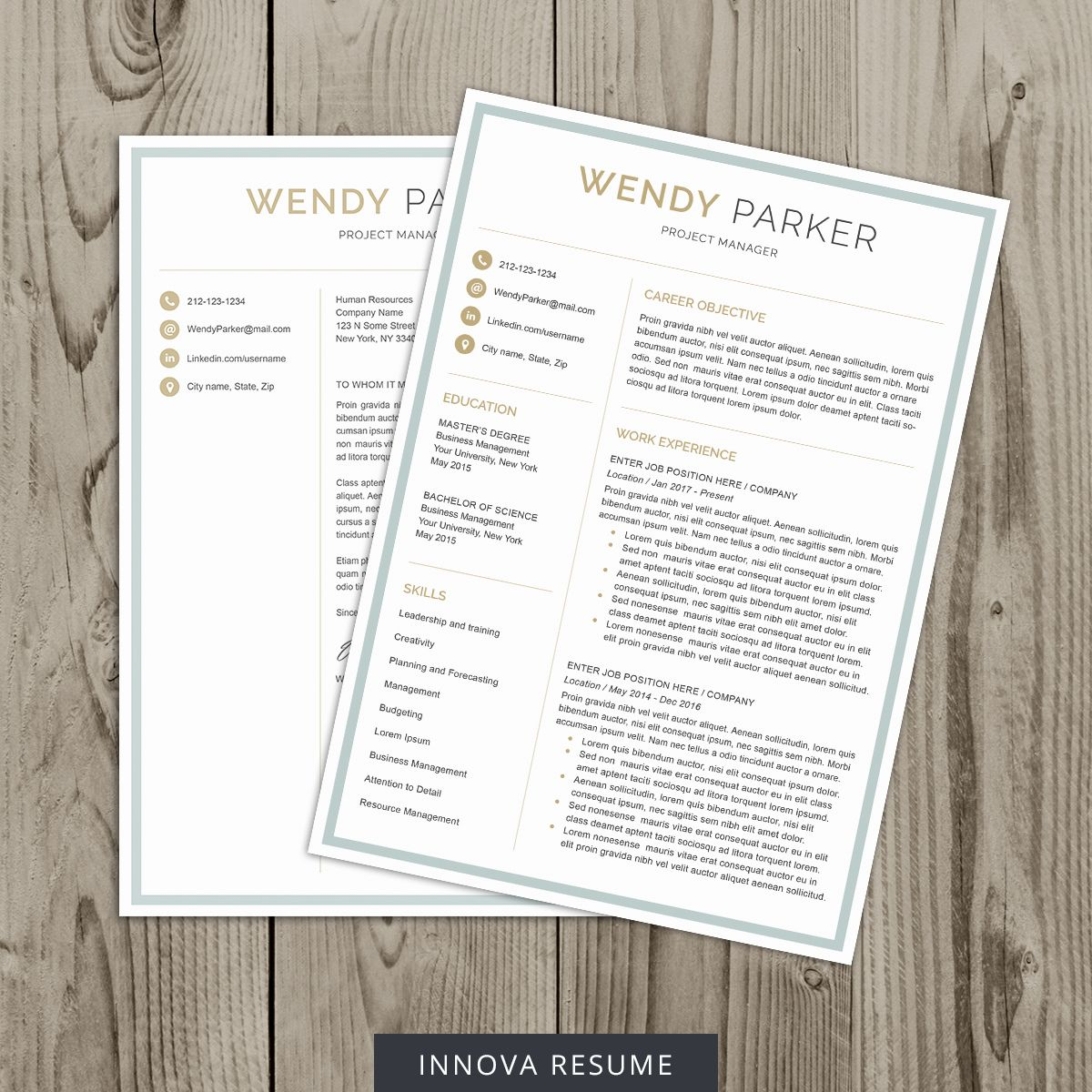Creative resume template to boost your resume docx
