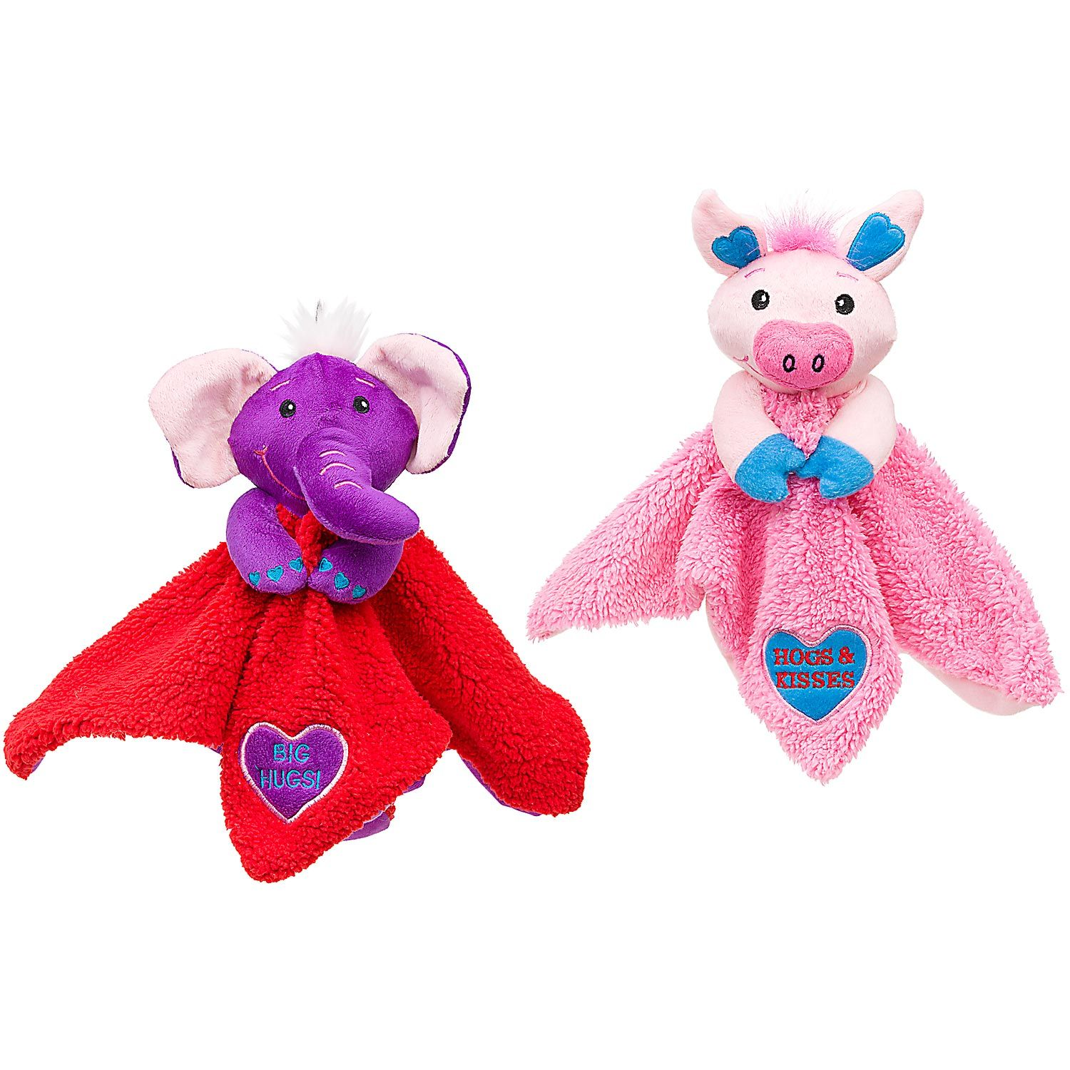 Petco Valentine Pig Or Elephant With Blanket Dog Toy Dog Toys