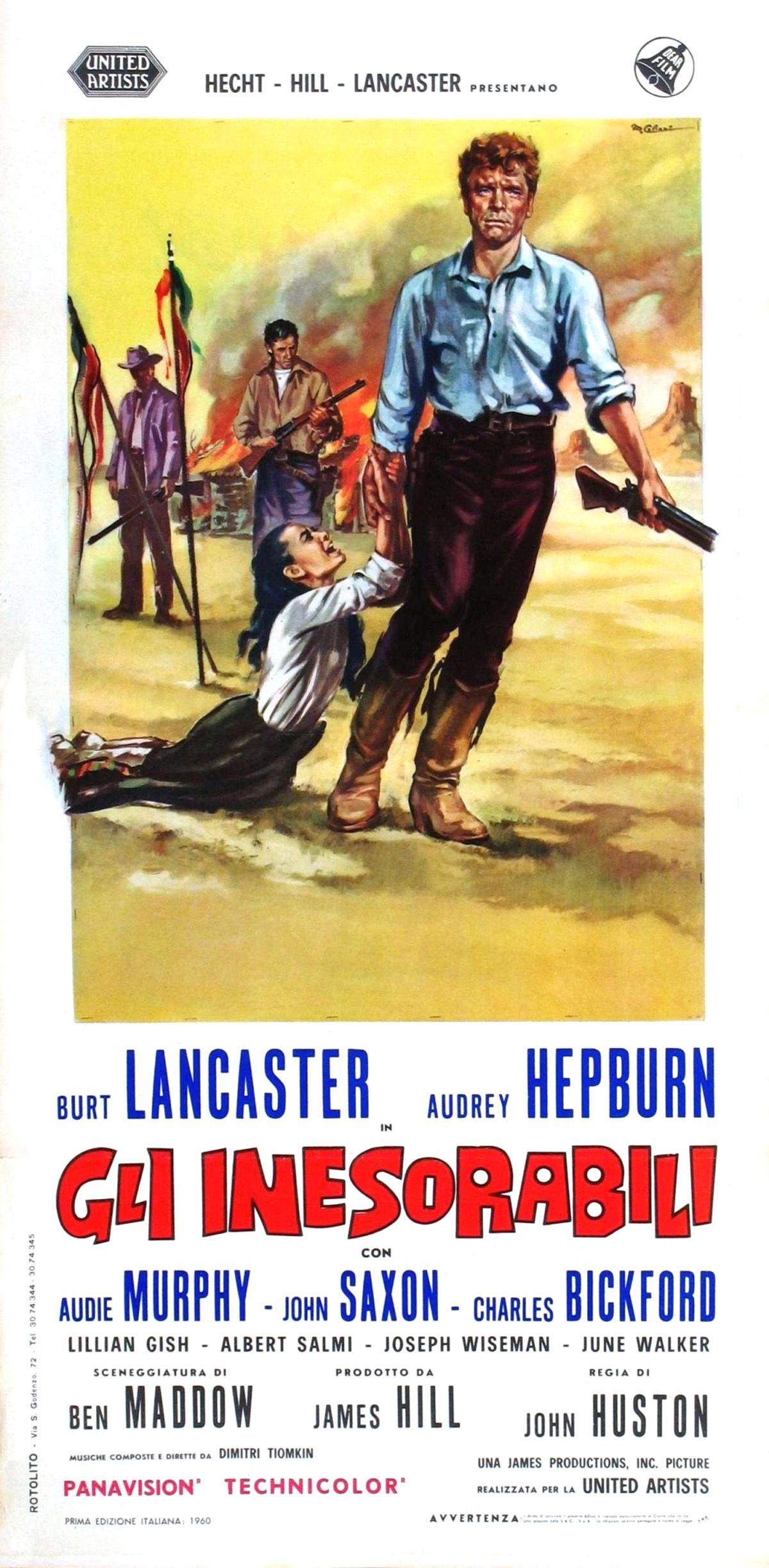 Audrey Hepburn The Unforgiven 1960 Starring Burt Lancaster