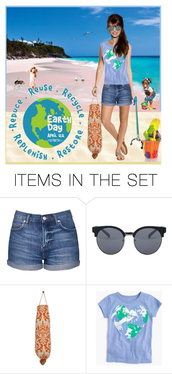 """""""Coastal Clean Up!"""" by krusie ❤ liked on Polyvore featuring art"""