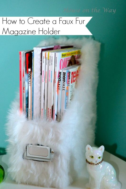 Create some fun Faux Fur Bedroom Accessories like this magazine holder- House on the Way