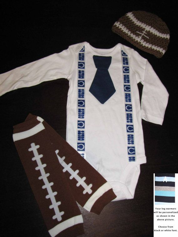 4a7e250a9 INDIANAPOLIS COLTS inspired football outfit for baby boy - tie ...