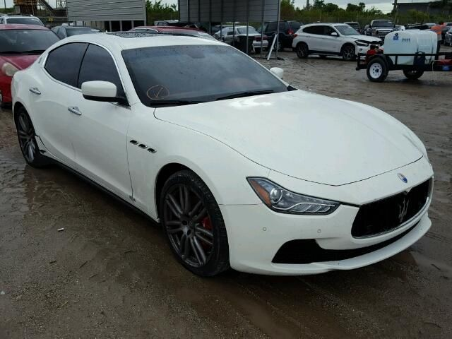 Salvage 2016 Maserati Ghibli Sedan For Sale Certificate Of