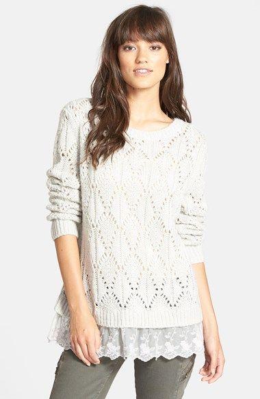 Hinge Ruffle Hem Sweater | Nordstrom