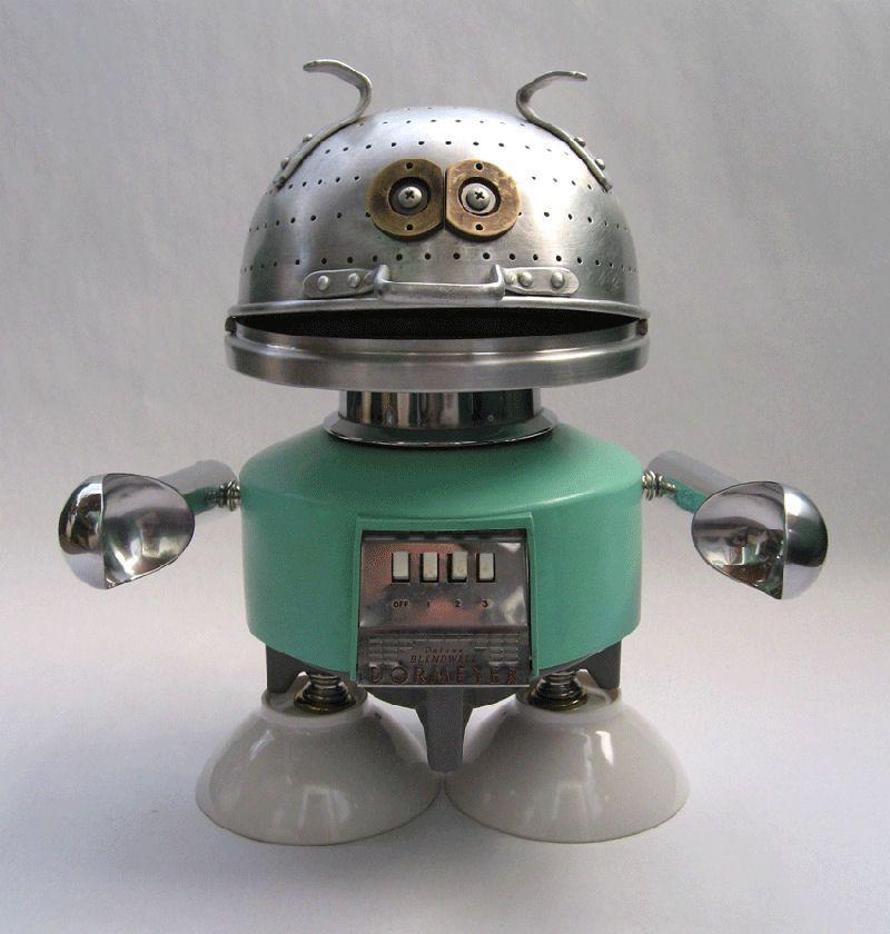 Adote um rob feito com material reciclado 42 fotos - Robo de cocina ...