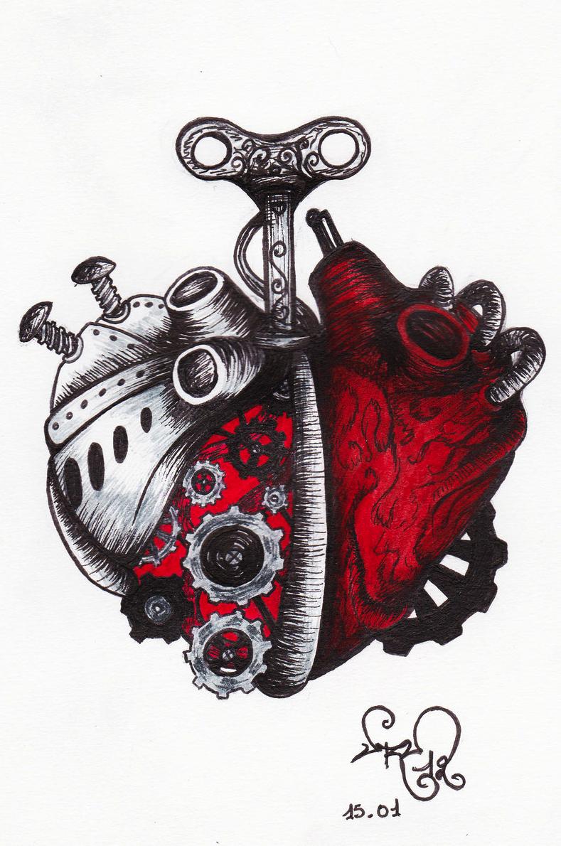 A Clockwork Anatomical Heart Art by devil urumi | corazón ...