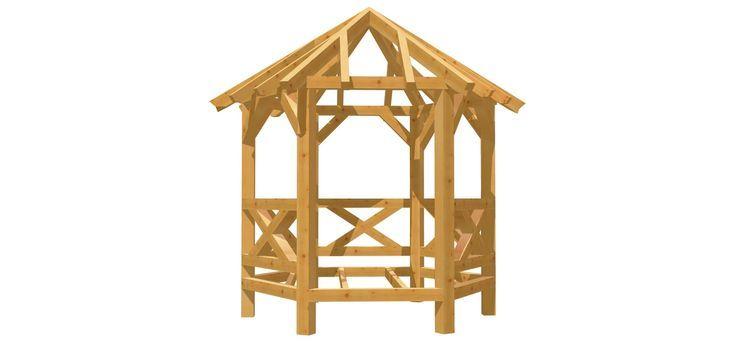 Pavillon 6Eck Holz DIY Anleitung Pavillon selber bauen