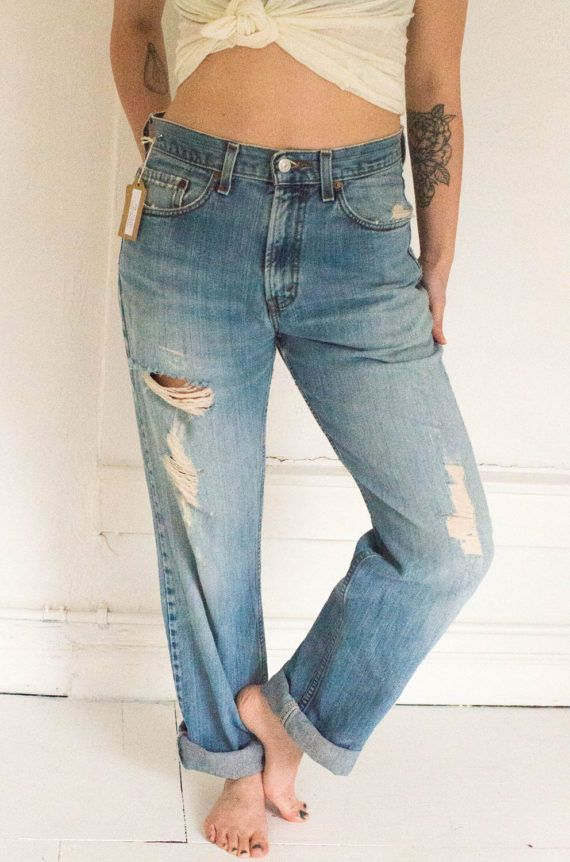 Destroyed Levis 505s by Clementinesvintageco on Etsy