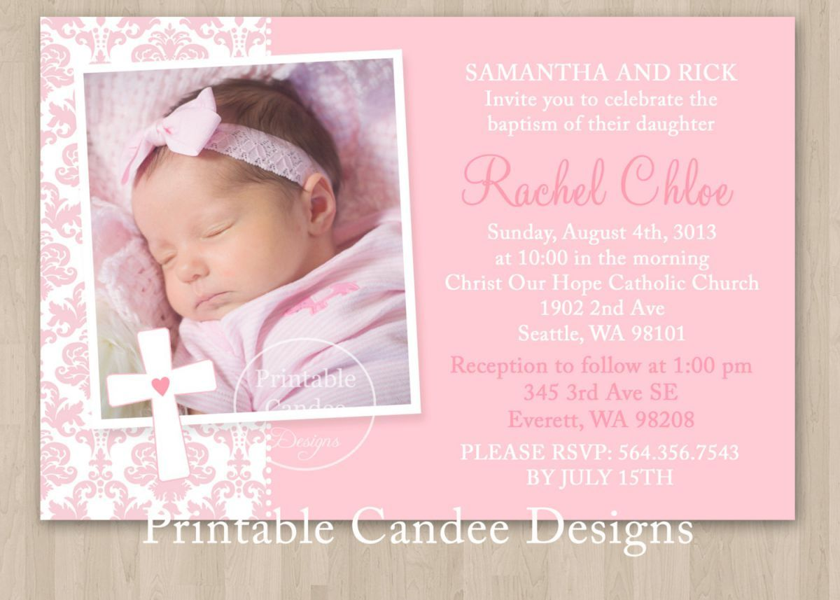 Baptism Invitation Template Editable