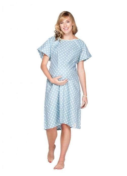 Our Hospital delivery gowns button up completely in the back and are ...