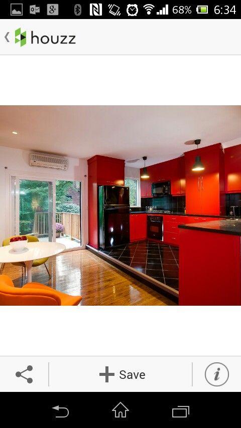 Houzz cocina roja   HOGAR   Pinterest   Decoraciones del hogar ...