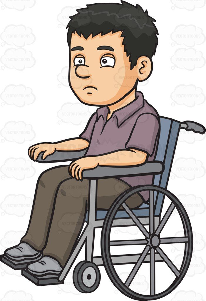 A Disoriented Man In A Wheelchair in 2019   Vector ...