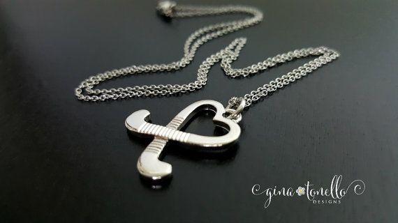 Fine Jewelry Personalized Name & Number Hockey Pendant Necklace o8EINUGjpl