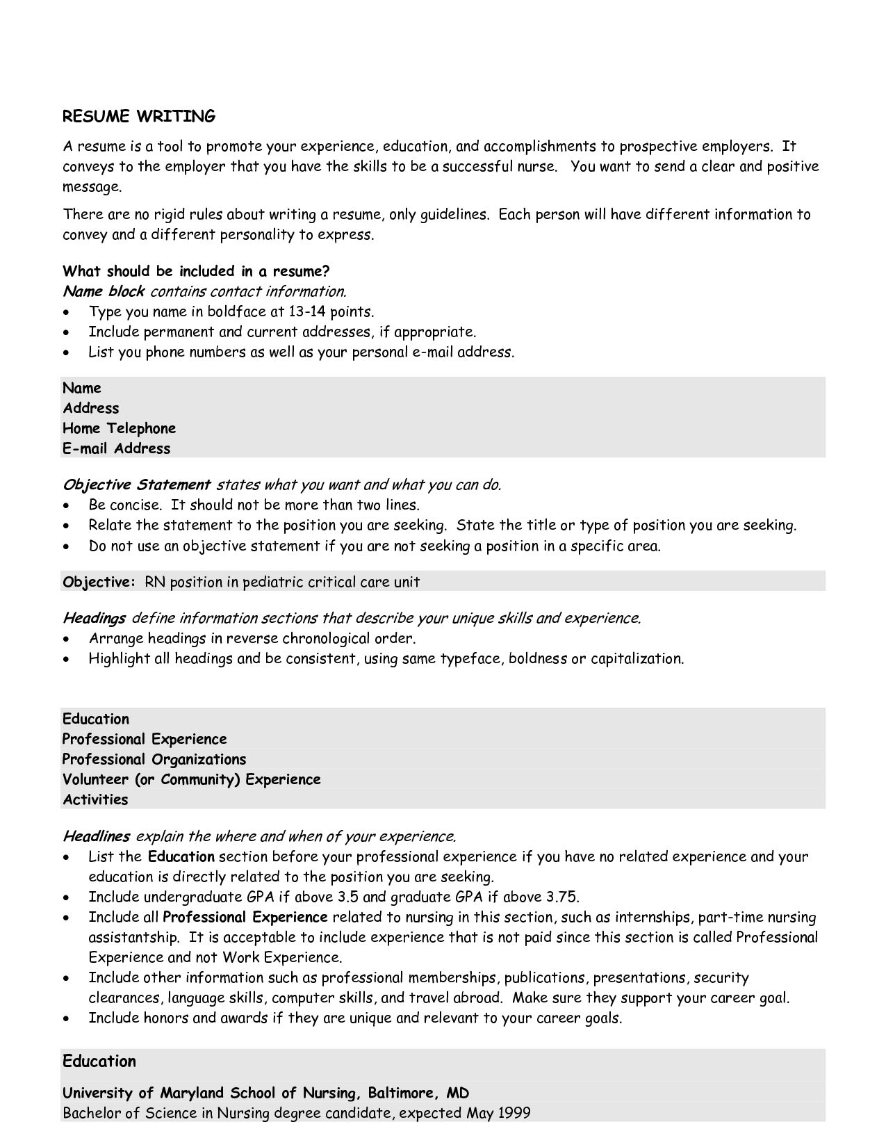 Good Resume Objective Job Finance New Other Examples Statements For