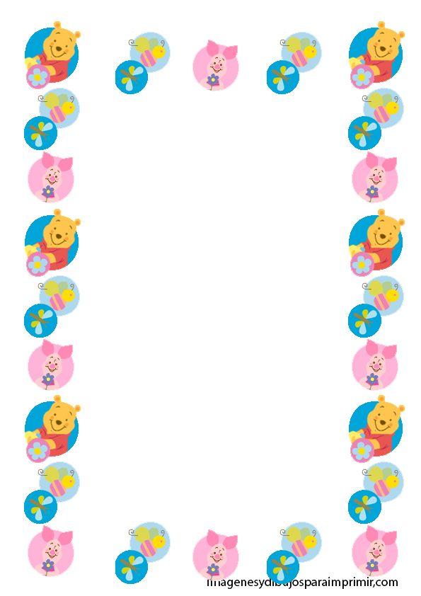Marcos para folios infantiles para imprimir imagenes y dibujos para imprimir marcos cenefas - Cenefas infantiles para imprimir ...