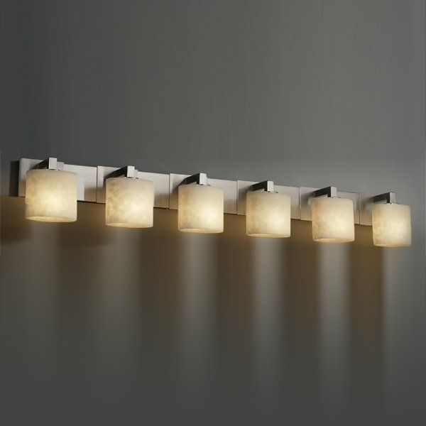 "Justice Design Bathroom Lighting 565""w Modular 6 Light Bath Barjustice Design  Cld892630"