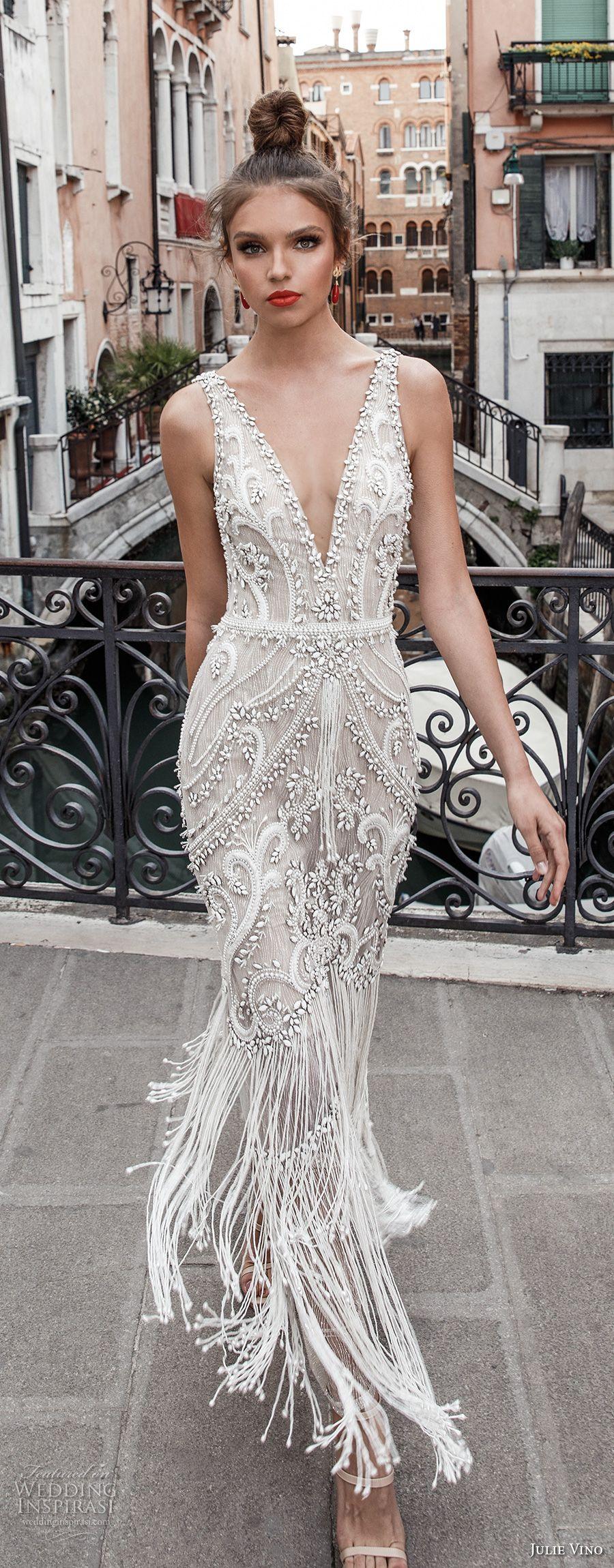 Julie Vino Spring 2018 Wedding Dresses Venezia Bridal Collection Wedding Inspirasi Wedding Dress Inspiration Bridal Dresses V Neck Wedding Dress [ 2300 x 900 Pixel ]