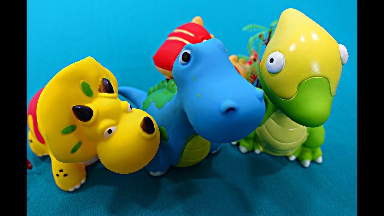 Dinosaurios español. Dinosaurios juguete Titanosaurus, Tiranosaurio, Pte...