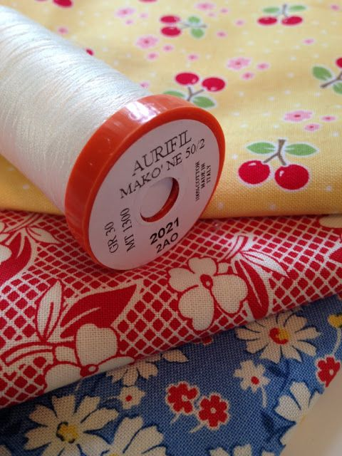 """Amy from Amy Made That is taking part in the Farm Girl Vintage Sew Along hosted by Fat Quarter Shop using the book by Lori Holt from Bee in My Bonnet. Amy is sharing some tips for how she sews successful blocks! """"Also, I use skinny thread, (#Aurifil 50 wt) to make my block sizes very close to a perfect 6 1/2"""" square at the end."""" For more of Amy's tips please visit http://eamylove.blogspot.com/2015/07/a-value-able-lesson-cool-threads.html"""