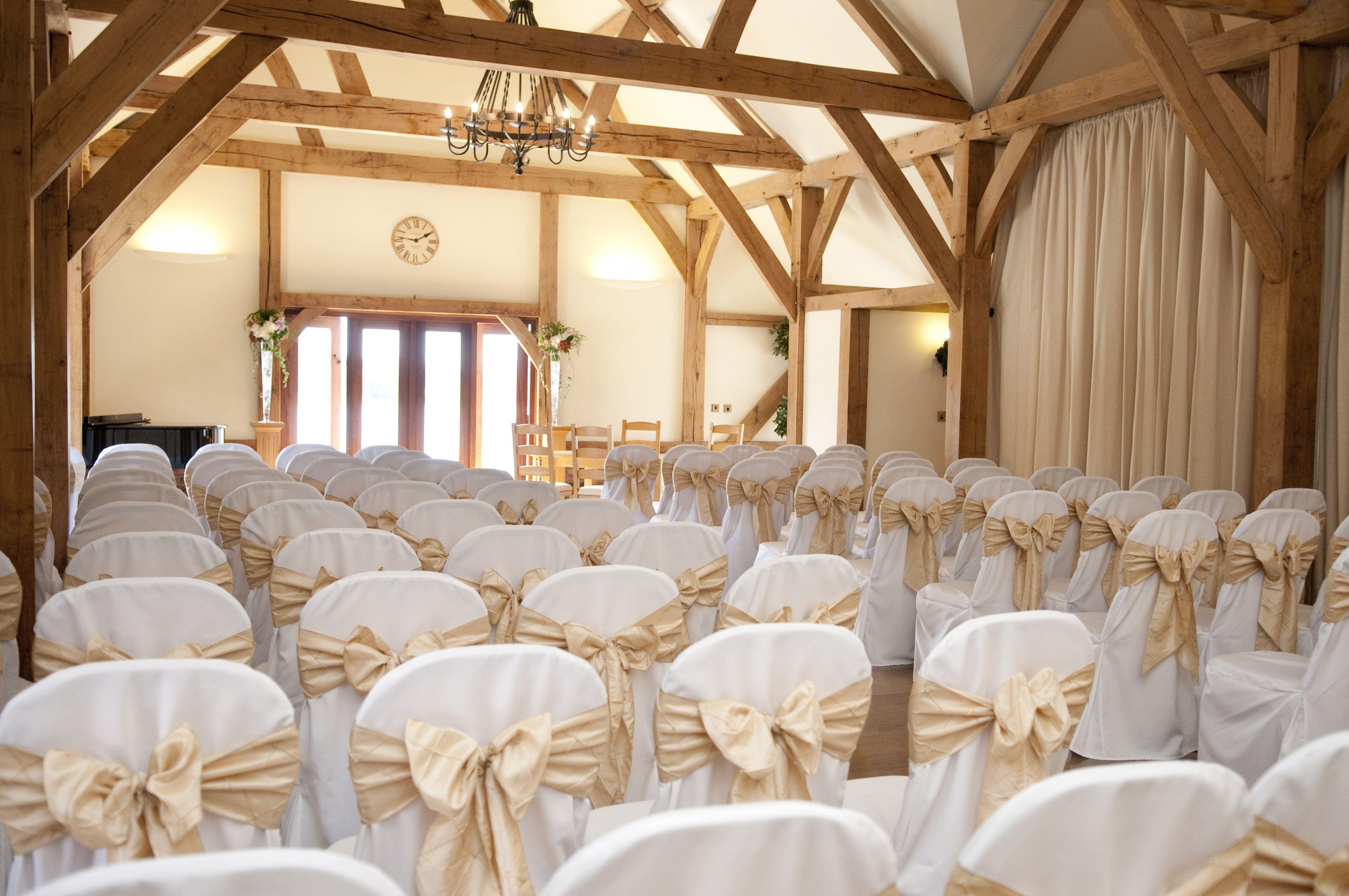 Ceremony Room At Sandhole Oak Barn Wedding VenueBarn