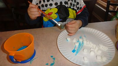 Create, Play, Teach: Milk painting Marshmallows