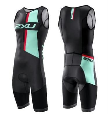 Triathlon 2918: Men S 2Xu Custom Compression Ld Tri-Suit - Black Green - Medium -> BUY IT NOW ONLY: $149.99 on eBay!