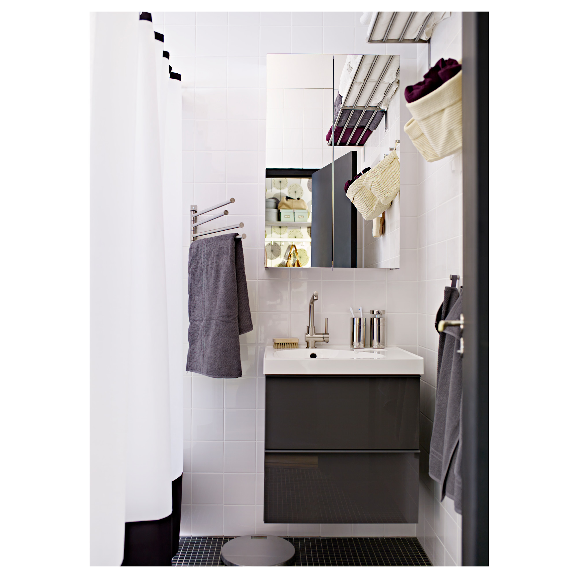 Ikea Grundtal Towel Hanger Shelf