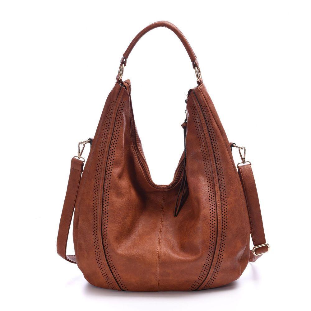 Large Hobo Handbags Leather Women S Bag Piel Coach Vintage Slouchy Purse  Tan PU d2700e2c780db