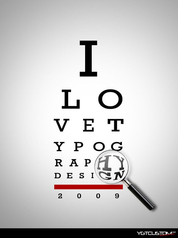a lovely and funny approach to the fact that graphic designers lose their eyesight really young