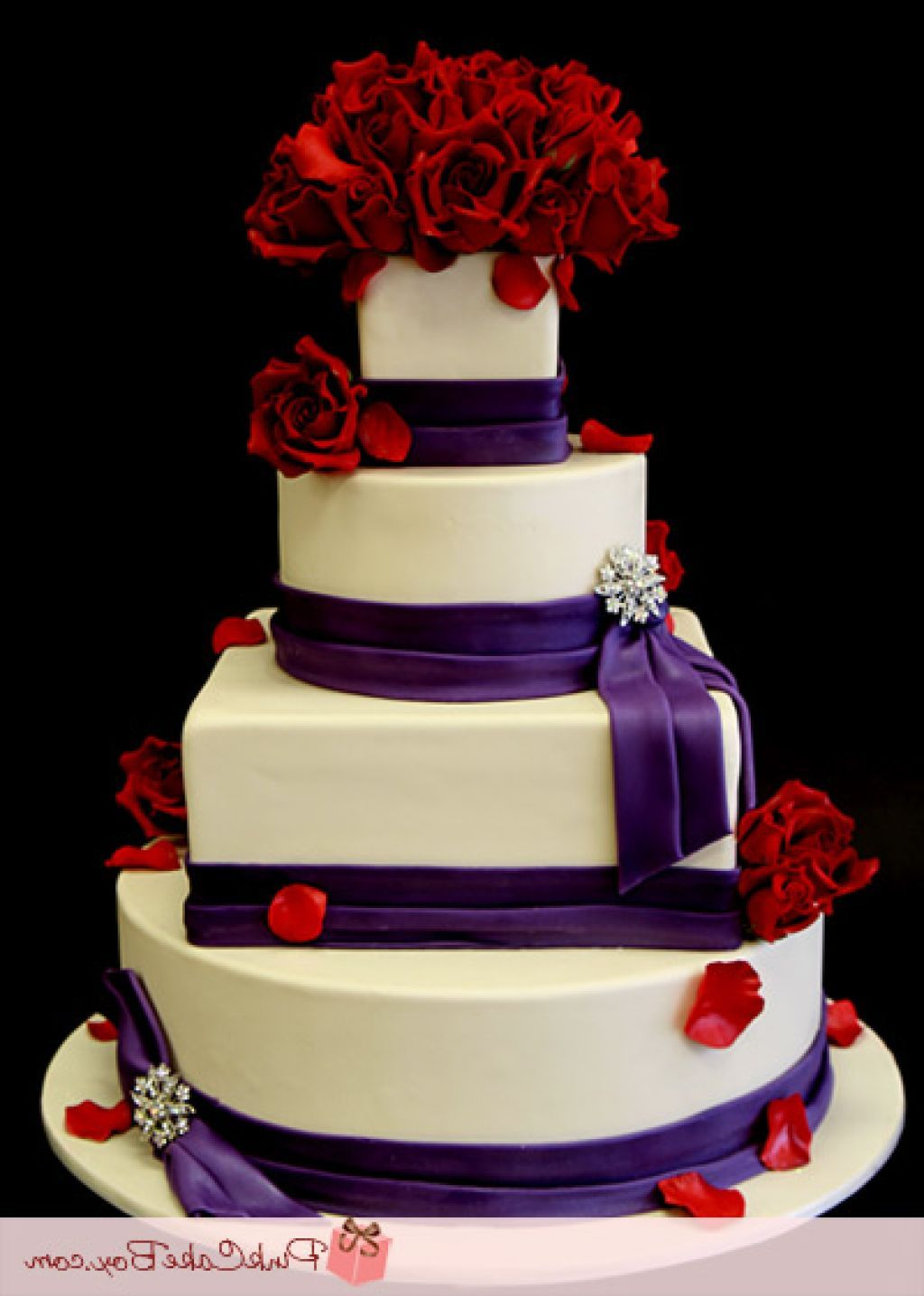 Red And Purple Wedding Cakes 13