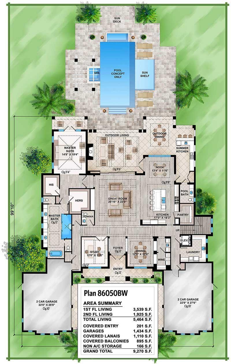 Spacious Tropical House Plan